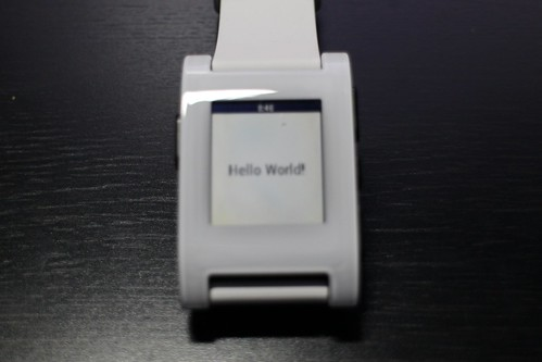PebbleでHello World