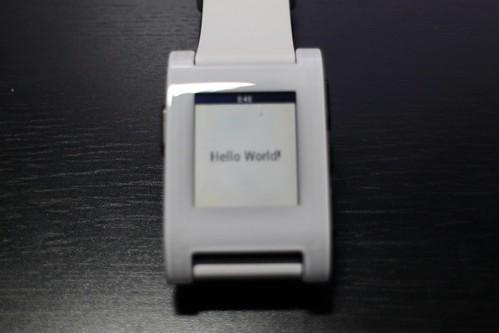 PebbleでHello World