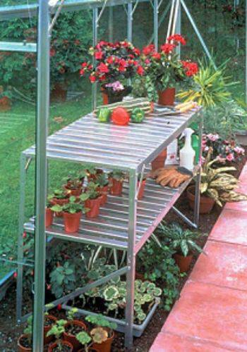 two-tier-aluminum-greenhouse-shelving