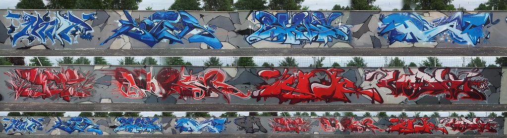 Crips Vs Bloods Vmcrew 2013 Crips Vs Bloods Wall Vm Cr Flickr