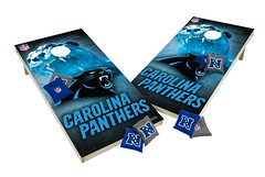Carolina Panthers Custom Cornhole Boards XL