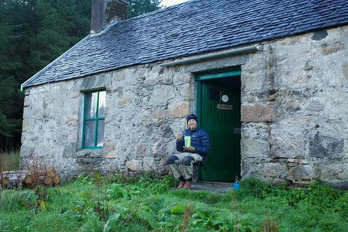 Bernard at A'Chull Bothy