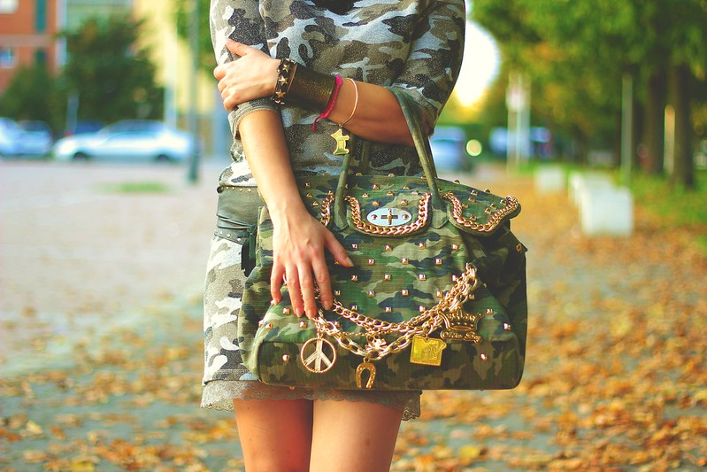 street style: military chic - camouflage print