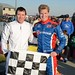 Mark Dismore Jr. and Josef Newgarden win the 2013 RoboPong 200 at New Castle Motorsports Park