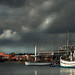 dark sky over the marina by skyesam