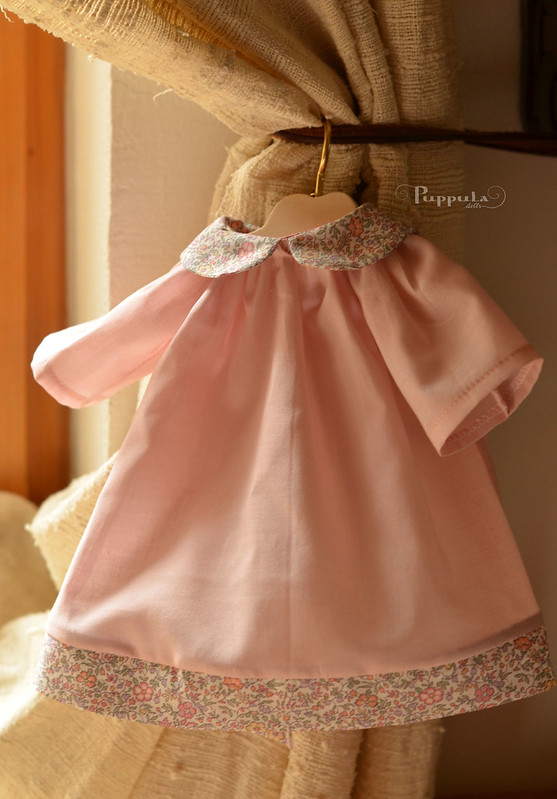 Cotton dress for a 12 inch doll