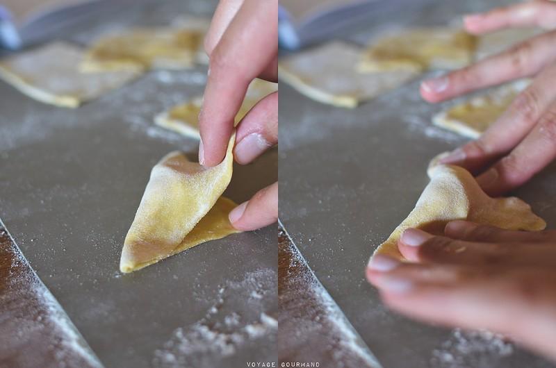 Pasta con ricotta e prosciutto