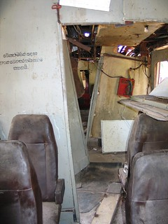 The inside of the Sumudra Devi train (Ocean Queen) after 2004 tsunami.