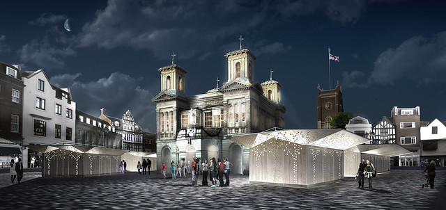 Kingston Ancient Market area night visualisation
