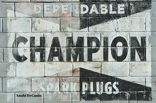 CHAMPION GHOST SIGN - AMERICANA ADVERTISING