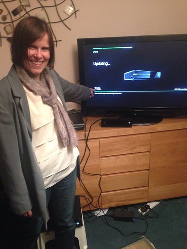 though @elemming may have lost the race with the delivery but she beat the mandatory software patch #xboxone