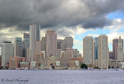 Boston Harbor Skyline by R. Paradis