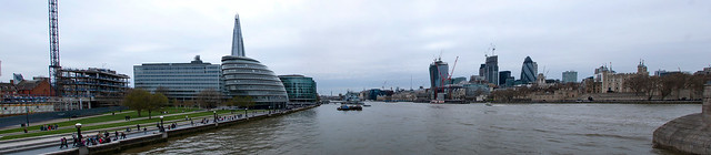 Panorama depuis le Tower Bridge