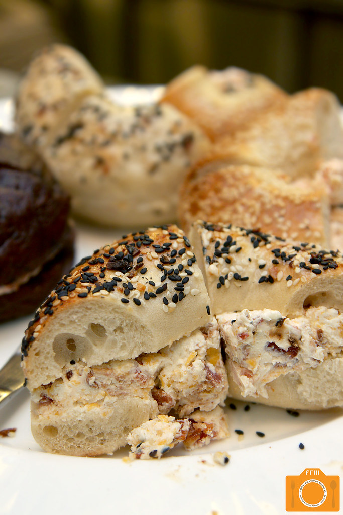 LES Bagels with assorted cream cheese