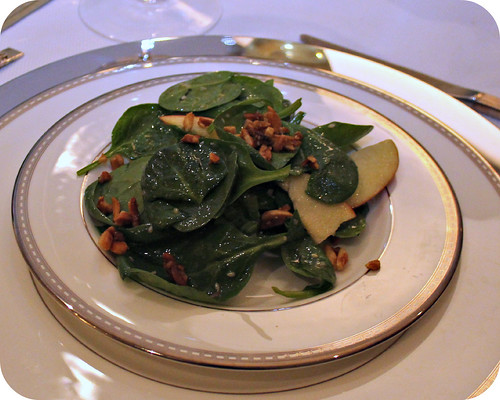 Spinach and Apple Salad with Crispy Almonds