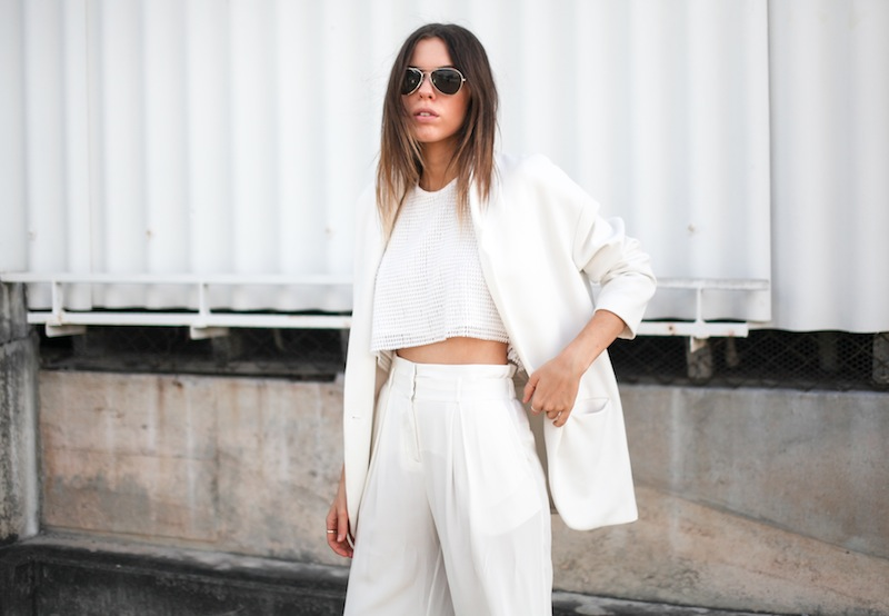 modern legacy fashion style blogger australia sass bide wide leg silk pants faddoul label top zara boyfriend blazer white birkenstocks street style alexander wang rafael bag (7 of 11)