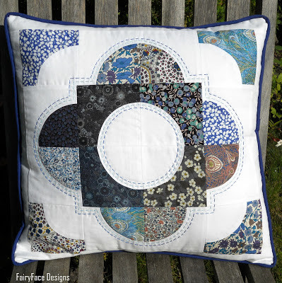 Sarah's Drunkard's Path cushion 1