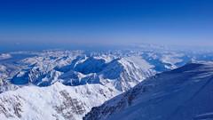 Widok ze szczytu Denali (6149m) na pd. - wsch.