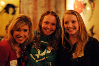 Steph Stricklen and young ladies from Project Lemonade