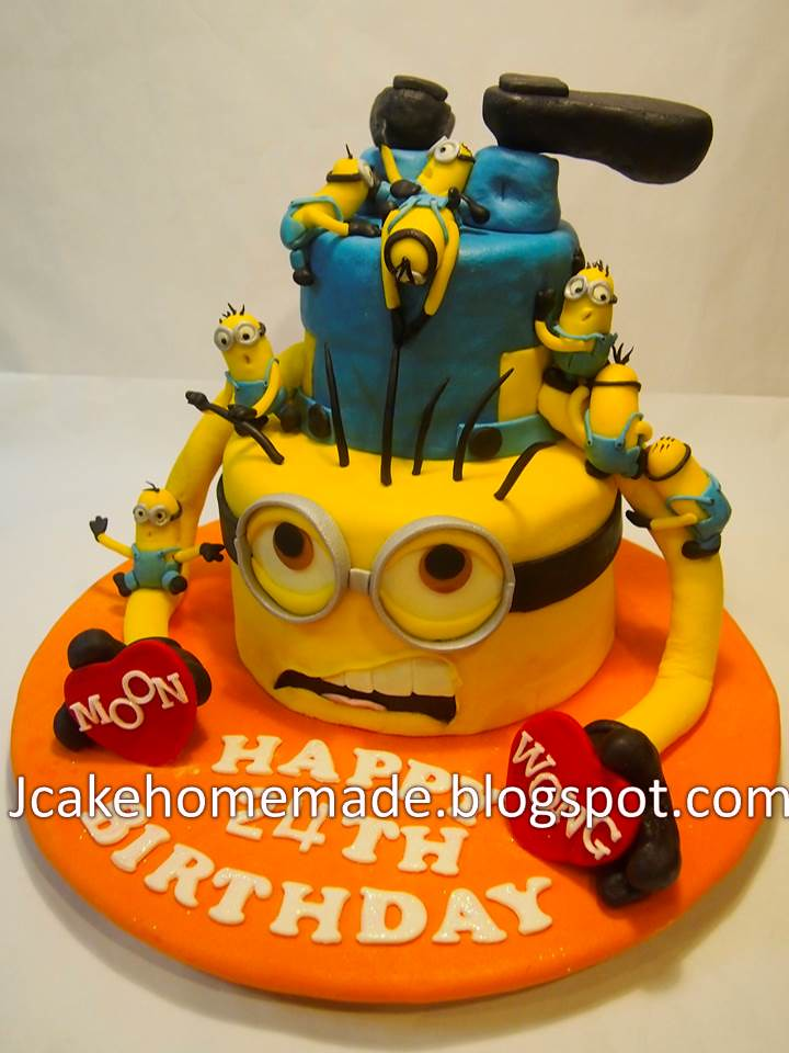 Minion Happy Birthday Cake Minions Birthday Cake