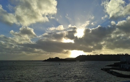 Sunset over Drakes Island, Plymouth.