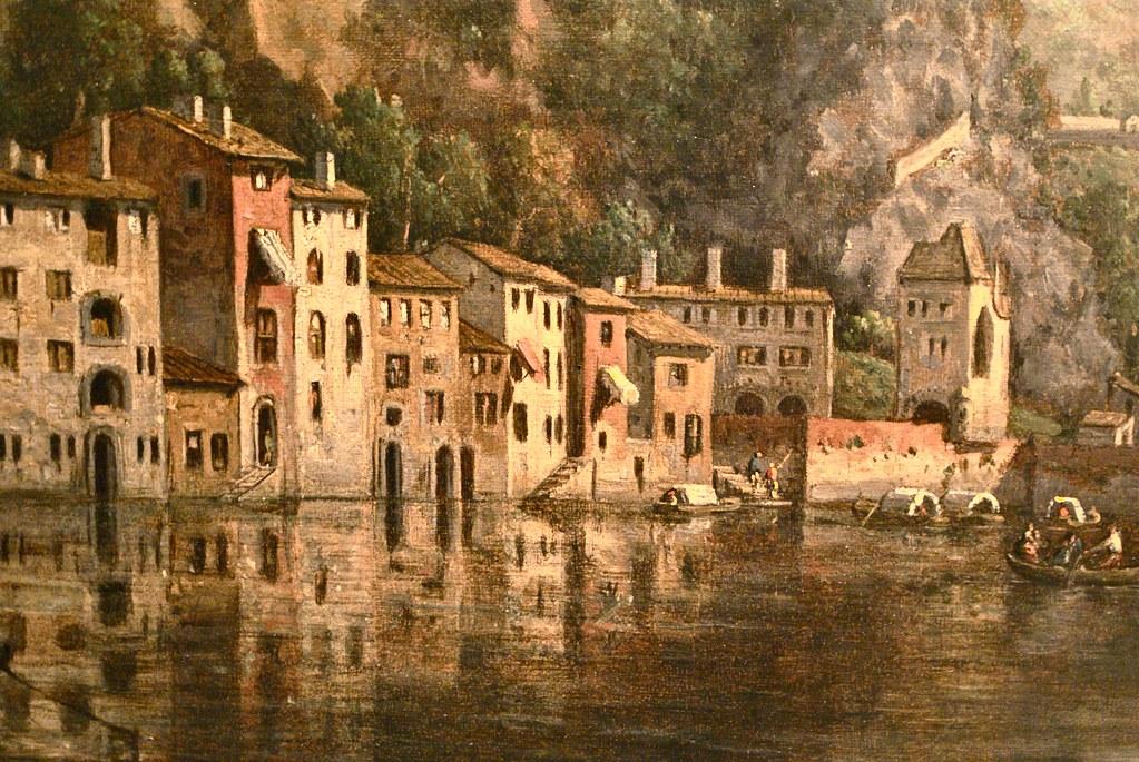 Quai Pierre-Scize sur la Saône à Lyon 19e siècle. Tableau du musée Gadagne à Lyon.