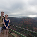 Me and Emily at Waimea Canyon