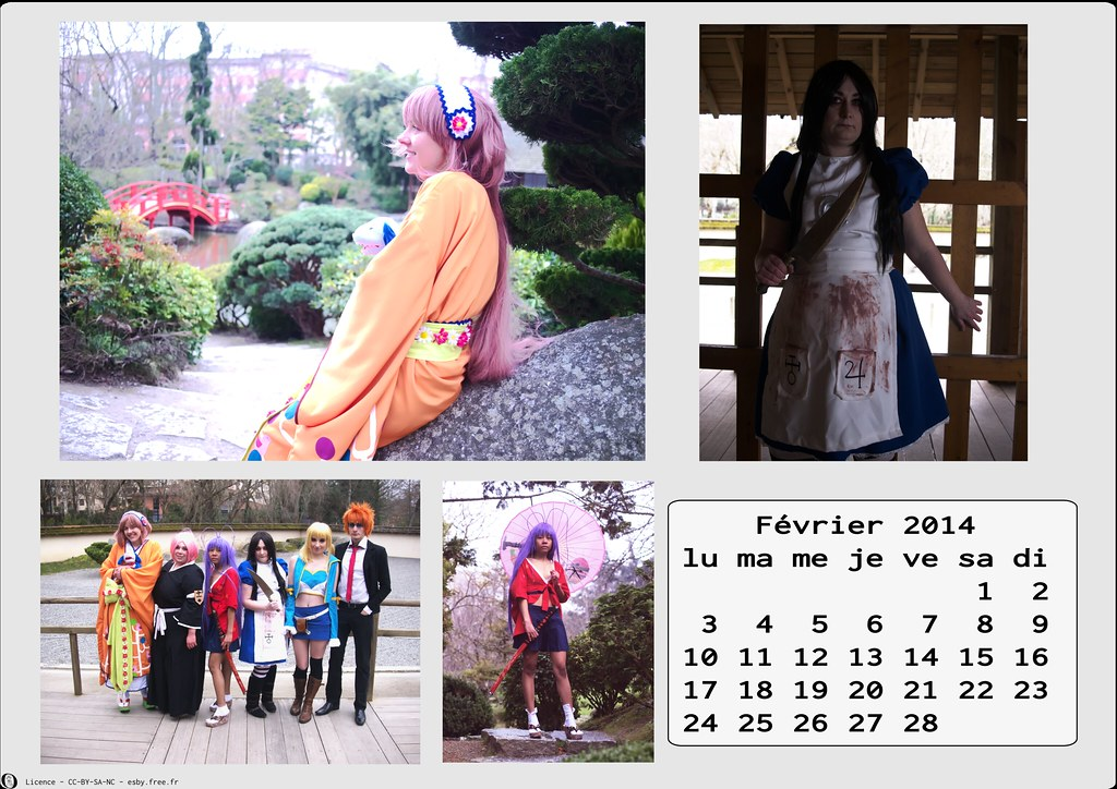 related image - Calendrier Cosplay 2014-02 - Février