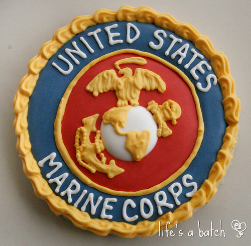 Marine Corps Logo cookie.