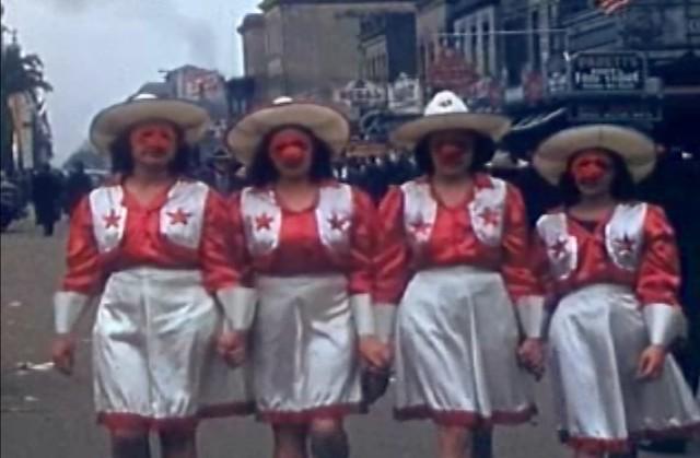 Faces of Mardi Gras 1941, In Color