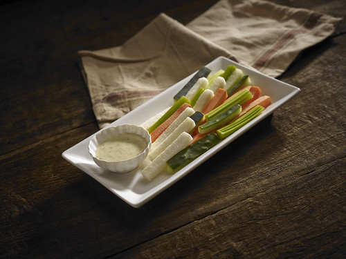 VEGGIE STICKS WITH BLUE CHEESE DRESSING, by LivingMarjorney