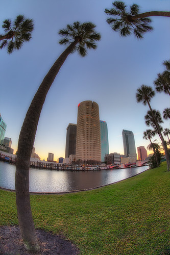 reflection sunrise tampa effects florida beercan processing nik hdr hillsboroughriver photomatix sykesbuilding rivergatebuilding