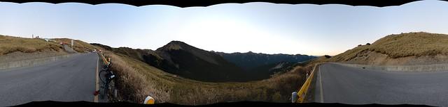 合歡山主峰登山口全景圖