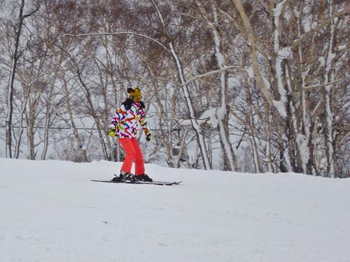 Xiu skiing
