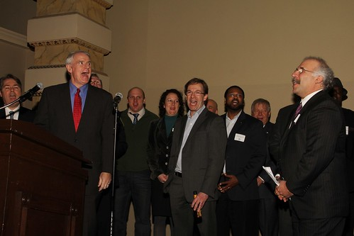 Mayor Barrett at the City of Milwaukee's 168th Birthday Party on Jan. 30, 2014.