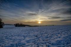 sun set in the winter