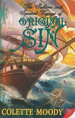 the cover of romance novel original sin features a big ship