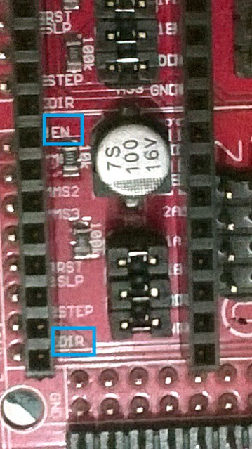 RAMPS 1.4 Stepstick Socket Pinout