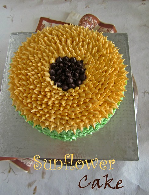 Sunflower Cake Tutorial | Cake Decorating Tutorial