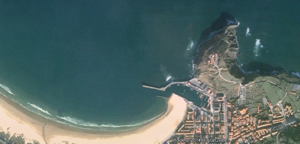 antes, urbanismo, foto aérea, desastre, urbanístico, planeamiento, urbano, construcción, puerto de Laredo, Laredo, Cantabria