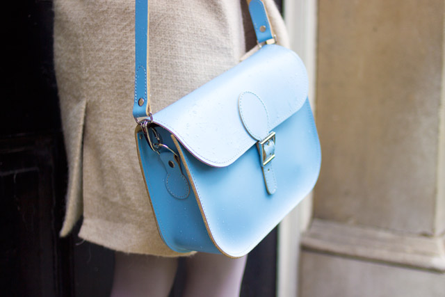 dusk blue britstitch satchel cross body bag