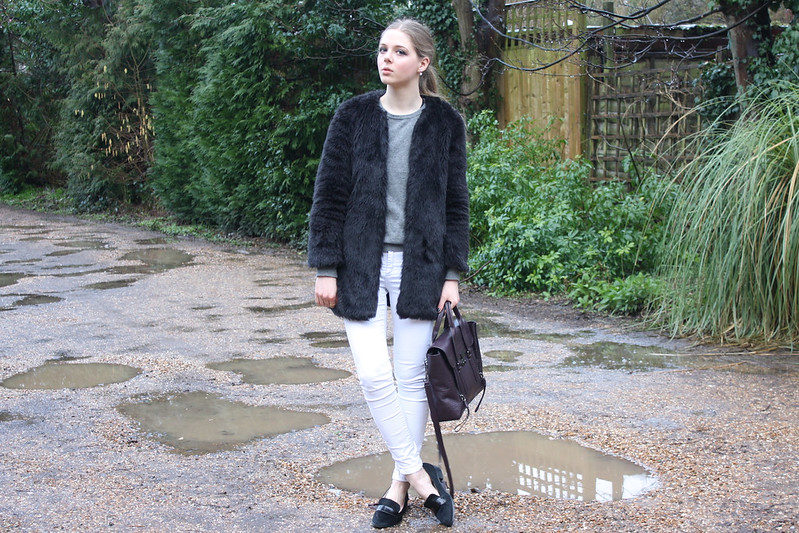 H&M grey cashmere jumper