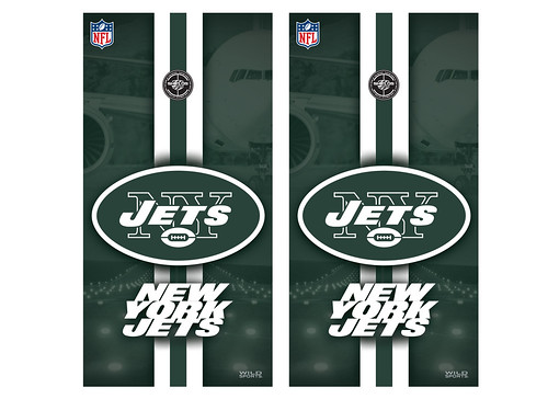 New York Jets Cornhole Game Decal Set
