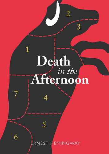 Ernest Hemingway book Cover & Poster - Death in the Afternoon