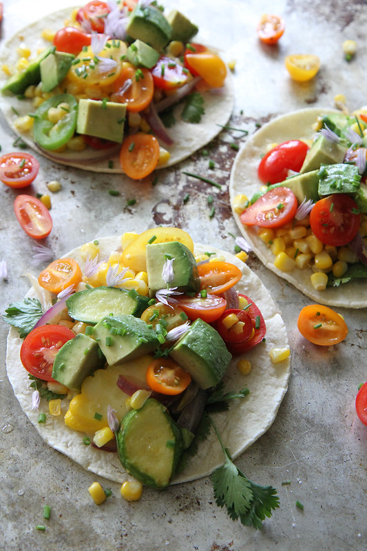 Fresh Corn and Squash Tacos