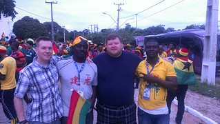 Us with Ghana fans