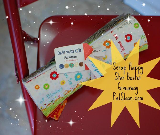 pat sloan scrap happy star buster giveaway