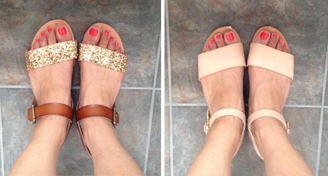gap vs target sandals3