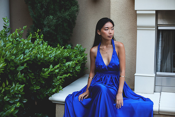 Stephanie Liu of Honey & Silk wearing Rae Francis and Samantha Wills