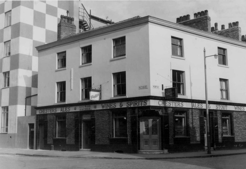 "Crown and Anchor, ""Sam Marshalls"", Hilton Street, Port Street, Manchester, Oct 1961."